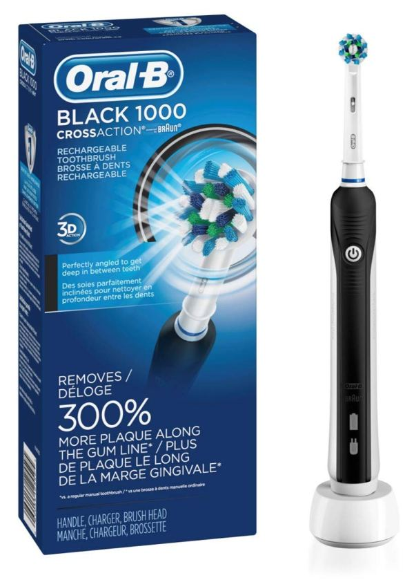 Oral-B Black Pro 1000 Power Rechargeable Toothbrush